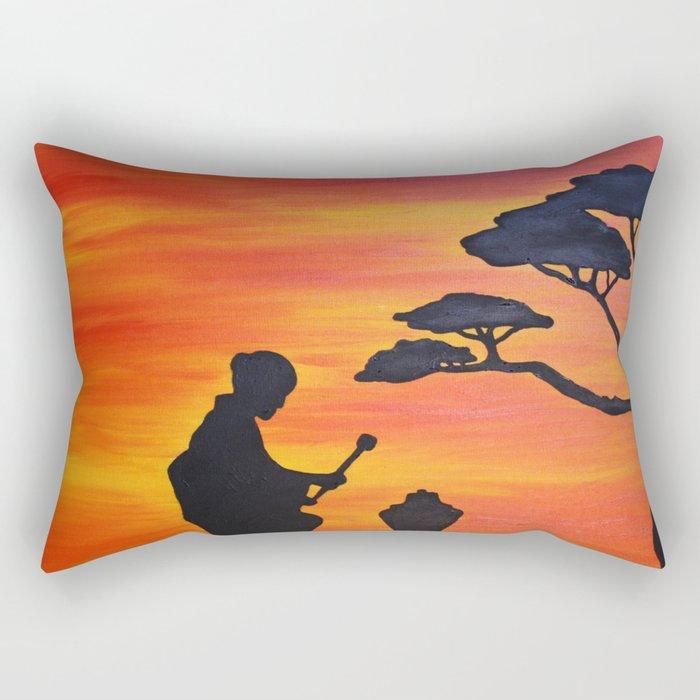 Sunset in Japan Rectangular Pillow