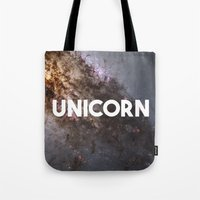 the last unicorn Tote Bags featuring Unicorn by eARTh
