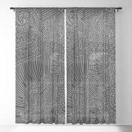tiny lines Sheer Curtain