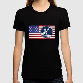 USA Kayaking American Flag Canoe Rowing Sports T-shirt