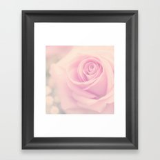 Vintage rose - Beautiful lightpink flower -Roses Framed Art Print