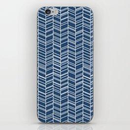 Navy Herringbone iPhone Skin