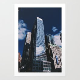Clouds in the city Art Print