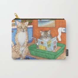Cat in litter Carry-All Pouch