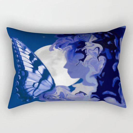 The Butterfly Maker's Moon Rectangular Pillow