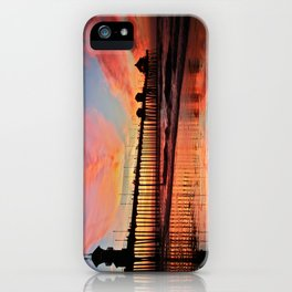 Sunset ~ Huntington Beach Pier ~ Huntington Beach Pier CA   iPhone Case