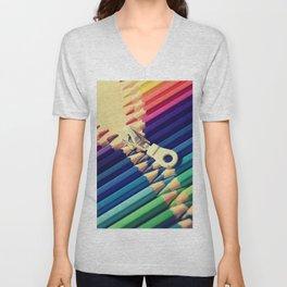 Crayon Zip Unisex V-Neck