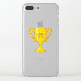 Best Grandpa Ever Clear iPhone Case