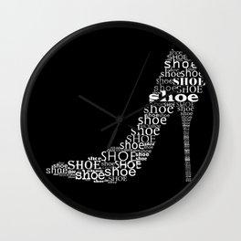 Invert shoe Wall Clock