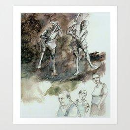 Miners Art Print