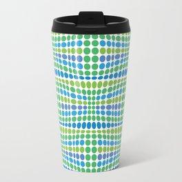 Dottywave - Green Blue wave dots pattern Travel Mug