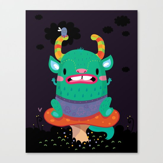 Monster of the night Canvas Print