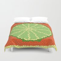 coasters Duvet Covers featuring LIME MOSAIC by Tanya Pligina