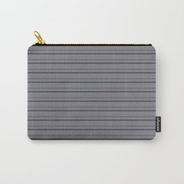 Night Watch PPG1145-7 Horizontal Stripes Pattern 3 on Magic Dust Muted Purple PPG13-24 Carry-All Pouch