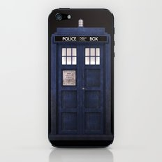 Tardis front iPhone & iPod Skin
