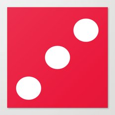 Red Dice 3 Canvas Print