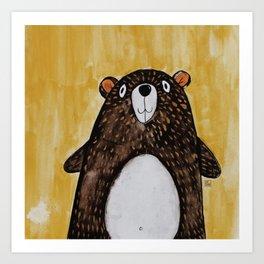 Mr. Bear Art Print