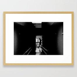 Crushing the Blacks Framed Art Print