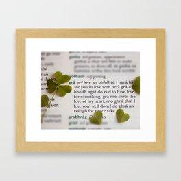 Love in Irish Framed Art Print