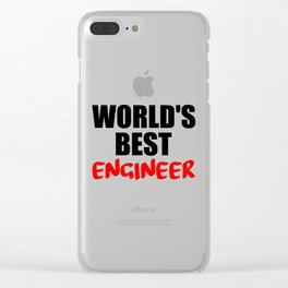 worlds best engineer Clear iPhone Case