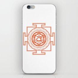 Sri Yantra Sacral Chakra iPhone Skin