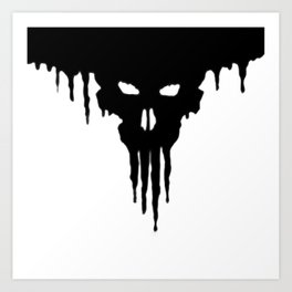 Dissolved Black Skull Art Print