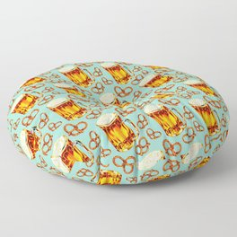 Beer & Pretzel Pattern Floor Pillow
