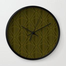 GREEN GEOMETRIC DIAMONDS Wall Clock