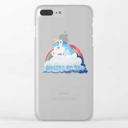 Central Intelligence Unicorn Clear iPhone Case