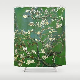 Almond Blossom - Vincent Van Gogh (avocado pastel) Shower Curtain