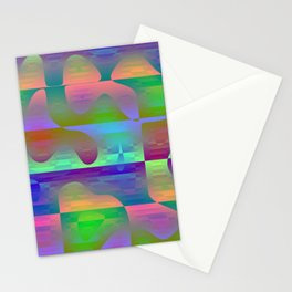 Ducklings of rubber in the shower Stationery Cards