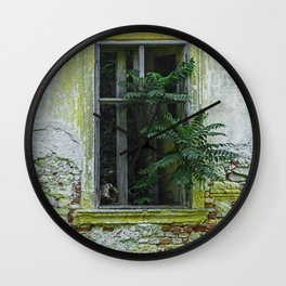 Lostplaces Window in castle Pottendorf Wall Clock