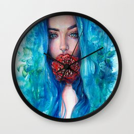 Rose Trap Wall Clock