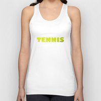 tennis Tank Tops featuring TENNIS by GvssPencil