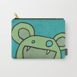 Slightly Amused Monsters, V Green Carry-All Pouch