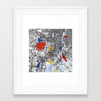 tokyo Framed Art Prints featuring Tokyo by Mondrian Maps