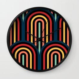Abstract seamless op art pattern. Wall Clock