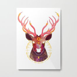 The Sun and the Stag Metal Print