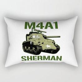 M4A1 SHERMAN Tank Military US 2 World War Tanks Rectangular Pillow