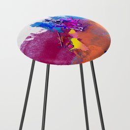 polo abstract red blue Counter Stool