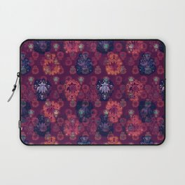 Lotus flower - fire on mulberry woodblock print style pattern Laptop Sleeve