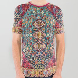 N131 - Heritage Oriental Vintage Traditional Moroccan Style Design All Over Graphic Tee