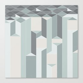Triangle columns Canvas Print