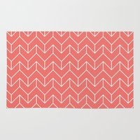 chevron Area & Throw Rugs featuring Chevron by Dizzy Moments