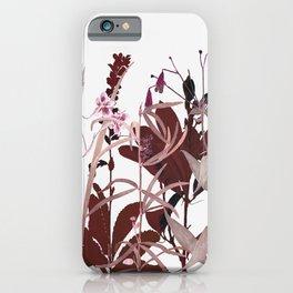 Maroon Flowers iPhone Case