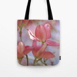 Pink Dogwood Tree Floral Tote Bag