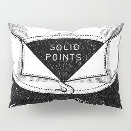 black and white vintage shirt collar retro laundry room Pillow Sham