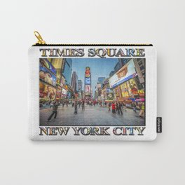 Times Square Sparkle (with typography) Carry-All Pouch