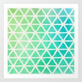 Watercolor Geometric Pattern Art Print