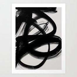 Abstract Brush Strokes 5 Art Print